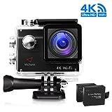 Victure アクションカメラ 4K WiFi 20MP 2インチ画面 2個電池 1080P UHD 170度広角 30M防水 タイムラプス