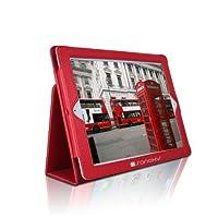 SANOXY ®スリムフォリオフォルダPUレザースタンドケースfor Ipad 2/ 3/ 4/ iPad 2nd Generation (レッドFolio )