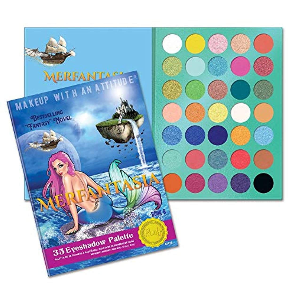 ティッシュ札入れ盲目RUDE? Merfantasia 35 Eyeshadow Palette - Book 8 (並行輸入品)