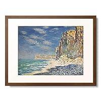 クロード・モネ Claude Monet 「The Cliffs at Fecamp (Falaise pres de Fecamp). 1881」 額装アート作品