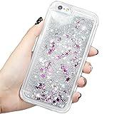 【EseekGO】iPhone 6/6s 専用 TPU 保護ケース、多彩な流砂ハードカバー For iphone6 キラキラ 動く流れ星携帯ケース/携帯Case Silver【シルバー】