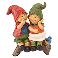 Garden Gnome Statue - Telling Secrets Gnomes - Lawn Gnome [並行輸入品]