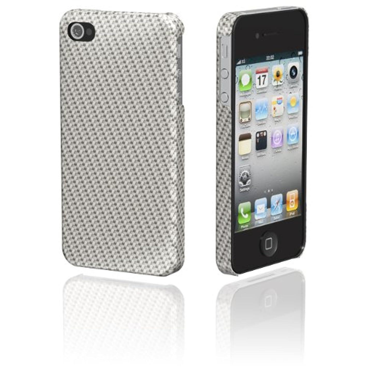 鈍い農夫アンビエントMSY GRAPHT iPhone4S/4両対応 Ultima Series Real Glass Fiber Case for iPhone 4/4S シルバーAPA04-003SIL