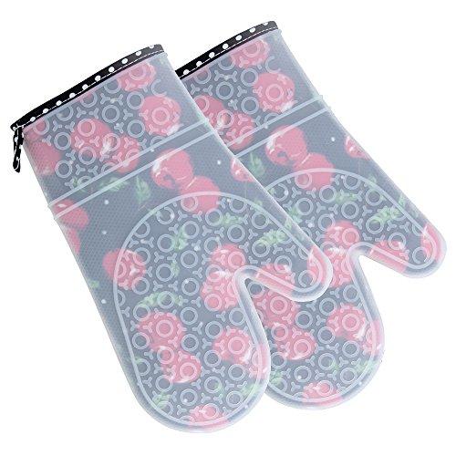 COOLBOTANG 耐熱 シリコン オーブン ミトン 手袋...