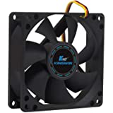 KingWin 80x80mm Long Life Bearing Case Fan Black 80 mm