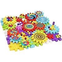 QXMEI 子供用おもちゃ 子供ブロック 子供用パズル 大きな粒子 回転ギア 組み立てブロック玩具 製品サイズ: 15インチ 12.4インチ 2.8インチ