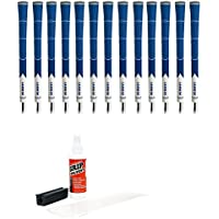 Lamkin z5標準ブルー/ホワイト – 13pieceゴルフグリップキット( withテープ、溶剤、バイスクランプ)