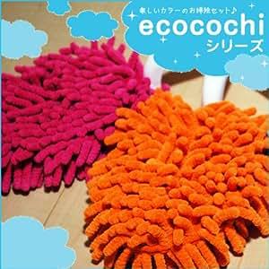 シービージャパン ecocochi マイクロファイバー ハンディーモップ オレンジ