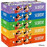 スコッティ ティシュー 320枚(160組) 5箱 ミッキーマウスパッケージ