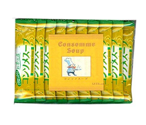 レッツお茶の店 コンソメスープ【20P×1袋】コンソメベースのスープに和風の風味とパセリがプラス 美味しくをたっぷり詰め込んだ特性スープ(20個)20杯分