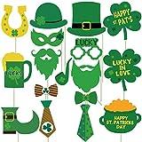 セントパトリックデー 写真ブース小道具 - DIY不要 27個 - アイルランドパーティー装飾用品 - 聖パトリックの日のパーティー記念品