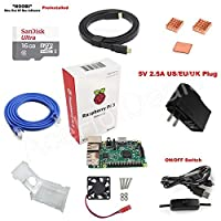 FidgetGear Raspberry Pi 3 Model B 1GB RAM Quad Core 1.2GHz CPU Starter Kit