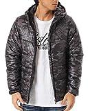 (ガッチャ) GOTCHA ジャケット LIMITED カモ柄 サーモライト 中綿 アウター 173G1790 ブラック Lサイズ