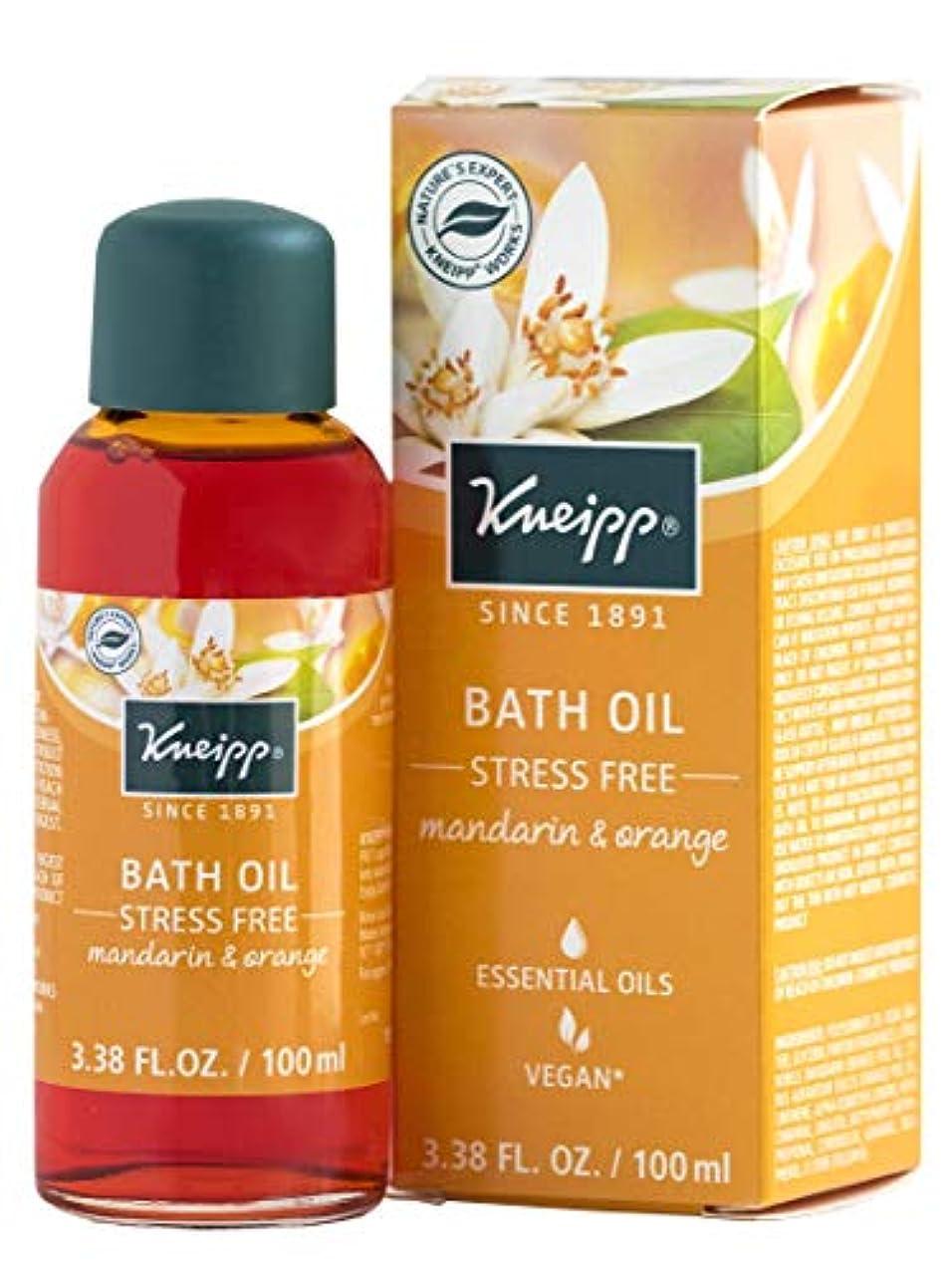 無礼に許可恥ずかしいKneipp STRESS FREE BATH With Natural Essential Oils MANDARIN & ORANGE 100ml