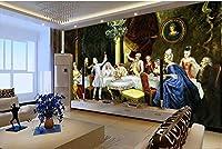 Bzbhart 3D壁紙壁画シルク 壁画の壁紙Hdクラシック宮殿絵画パーティー設定壁壁紙用壁-250cmx175cm