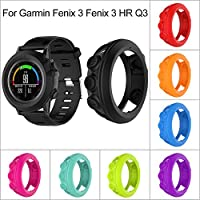 luermeスマートウォッチシリコンプロテクターケース保護シェル耐衝撃フレームシリコンバンパー保護カバーfor Garmin Fenix 3Fenix 3HR Quatix 3スマート腕時計