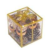 オシャレ かわいい クリスマス ツリー リース 用 アソート オーナメント 飾り ボール ベル プレゼント デコレーション (ゴールド)