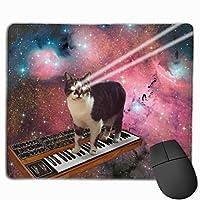 TOTOPM マウスパッド 滑り良い 滑り止め 耐摩耗性 おしゃれ 3Dプリント 猫 宇宙柄 水洗い PC ラップトップ オフィス用 ゲーム向け レーザー&光学式マウス対応 250*300 *3mm (抗菌性・静電特性に優れています)