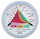 【季節性インフルエンザ予防にも】 TANITA アナログ式 温湿度計 小型 (スタンド付き / (置き式・掛け式兼用)) ブルー TT-547-BL