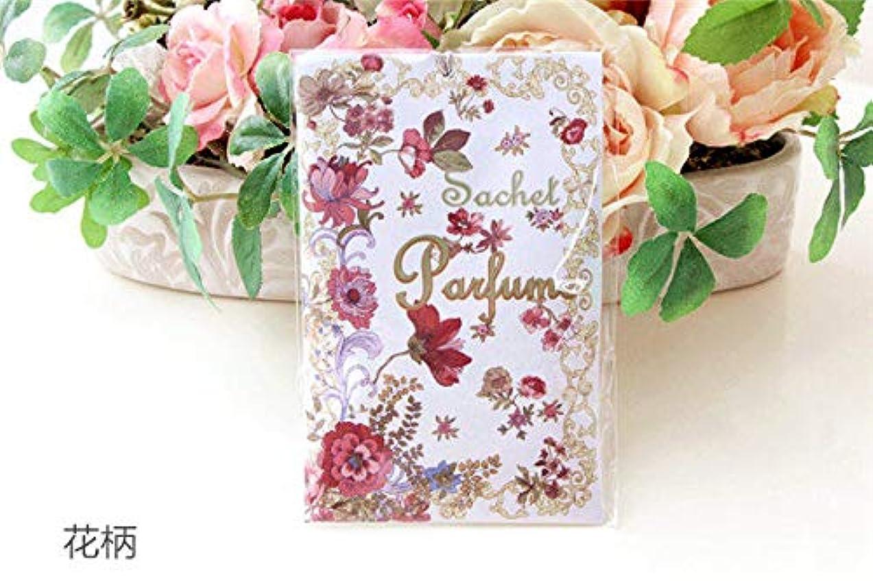 手書き表示西サシェ袋 香袋 アロマ ローズの香り バラ 花柄 おしゃれ かわいい <br>姫系 ボタニカル 母の日ギフト