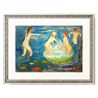 エドヴァルド・ムンク Edvard Munch 「Bathing Girls」 額装アート作品