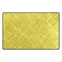 旅立の店 玄関 キッチン トイレ バスマット 足拭きラグ 黄色 水彩絵 低反発ポリエステル+メモリーフォームマット 滑り止め 吸水 柔らか 水洗でき 屋内 約80*50cm