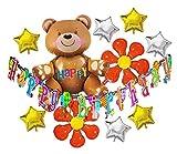 HOPIC 誕生日 飾り付け ガーランド バナー バルーン お祝い パーティー 部屋 アルミ 風船 バースデー 飾り ハッピーベア