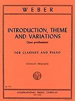 ウェーバー: 序奏、主題と変奏/インターナショナル・ミュージック社/ピアノ伴奏付クラリネット・ソロ