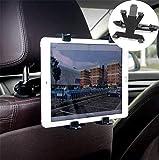EasyULT タブレットホルダー 車後部座席用, 【最新版・旅行に最適】360度回転可能 安定 落下防止 車載 ヘッドレスト ホルダー 7-14インチ専用