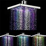 大型LEDシャワーヘッドレインシャワースクエアレインシャワーシャワーヘッドスターライン7色明るい色の変更虹色の家やホテルに適して - 20 cm * 20 cm * 1.8 cm