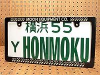 ムーンアイズ(MOONEYES) ナンバープレートフレーム スリム ブラック Moon Equipment Co_NF-MG060BKME-MON