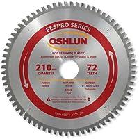 Oshlun SBFT-210072A 210mm 72 Tooth FesPro Non Ferrous TCG Saw Blade with 30mm Arbor for Festool TS 75 EQ [並行輸入品]