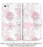 mitas iPhone7 ケース 手帳型  花 ピンク (249) SC-0232-PK/iPhone7