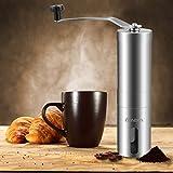 Homdox 手挽きコーヒーミル セラミックカッター 手動ステンレスミル
