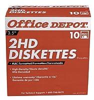 Office Depot(R) 3 1/2' Diskettes, Mac Format, DS/HD, Black, Box Of 10 [並行輸入品]