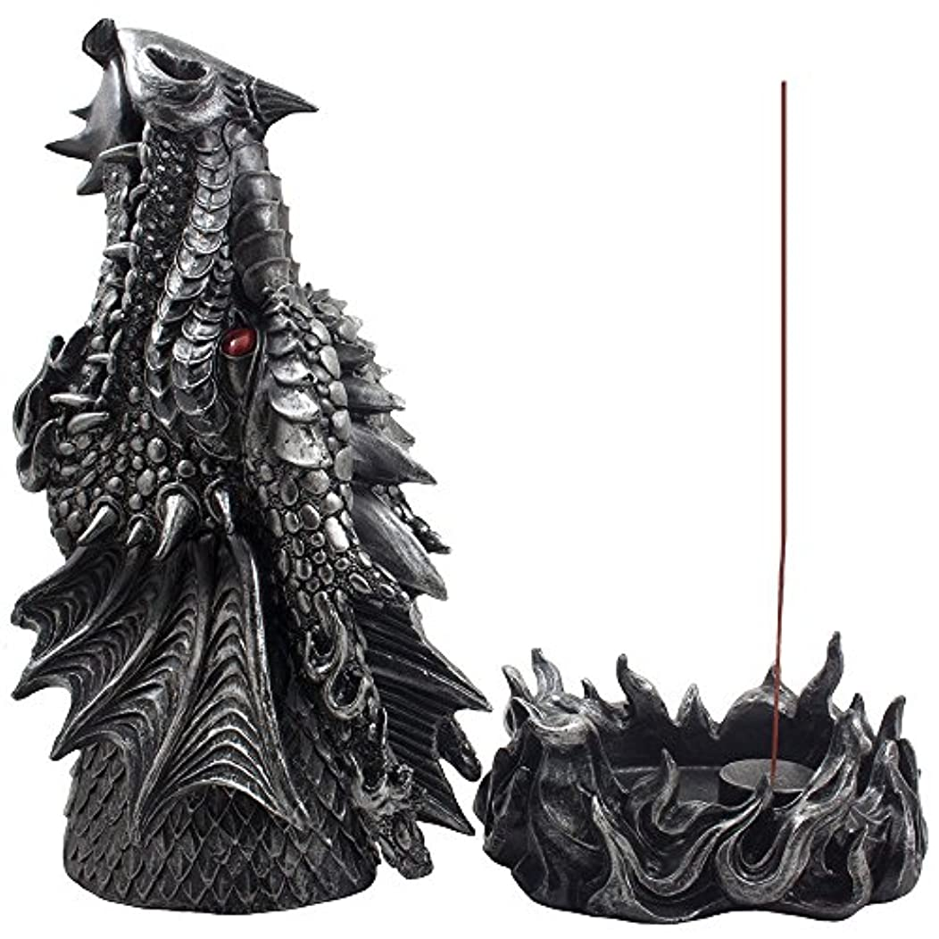 認知クアッガうんざりMythical Fire Breathing Dragon Incense Holder & Burner Combo Statue for Sticks or Cones with Decorative Display...