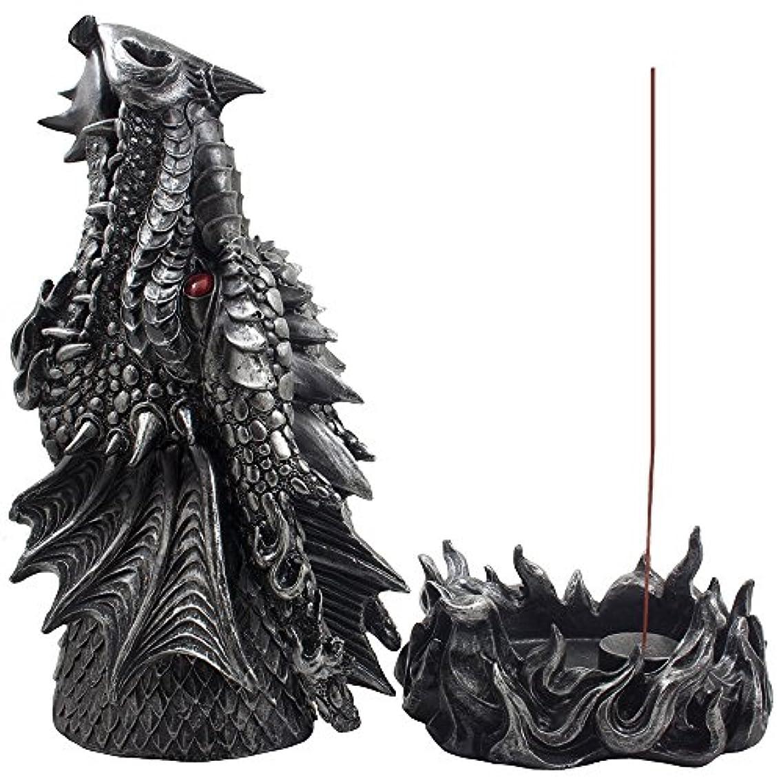 振幅する必要があるサンドイッチMythical Fire Breathing Dragon Incense Holder & Burner Combo Statue for Sticks or Cones with Decorative Display...