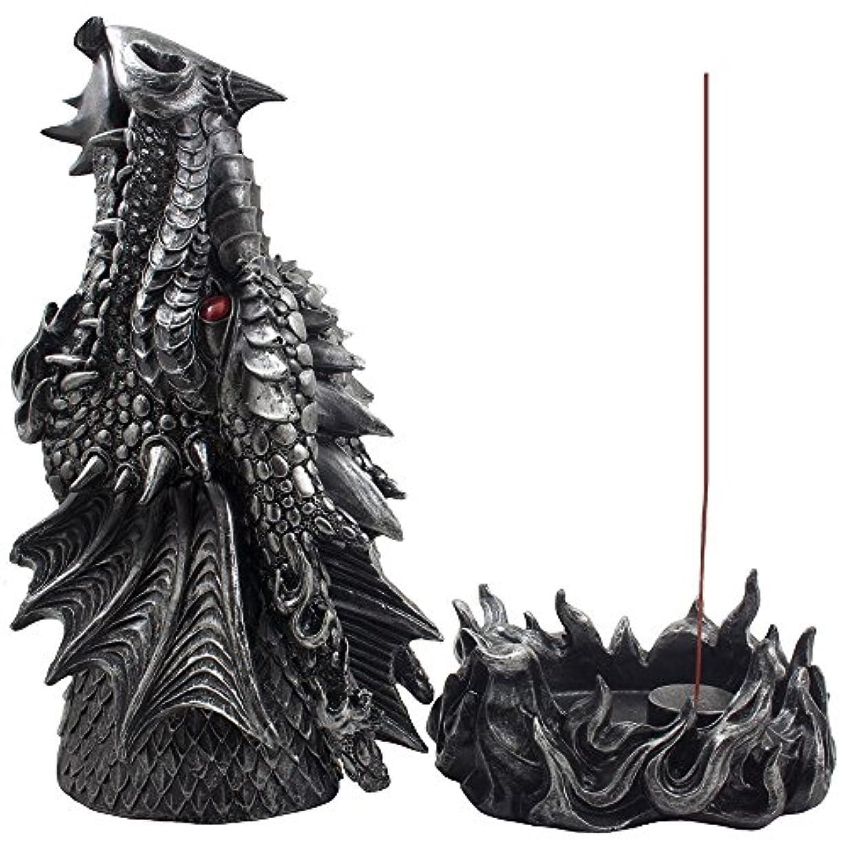 ヤング怠感ネーピアMythical Fire Breathing Dragon Incense Holder & Burner Combo Statue for Sticks or Cones with Decorative Display...