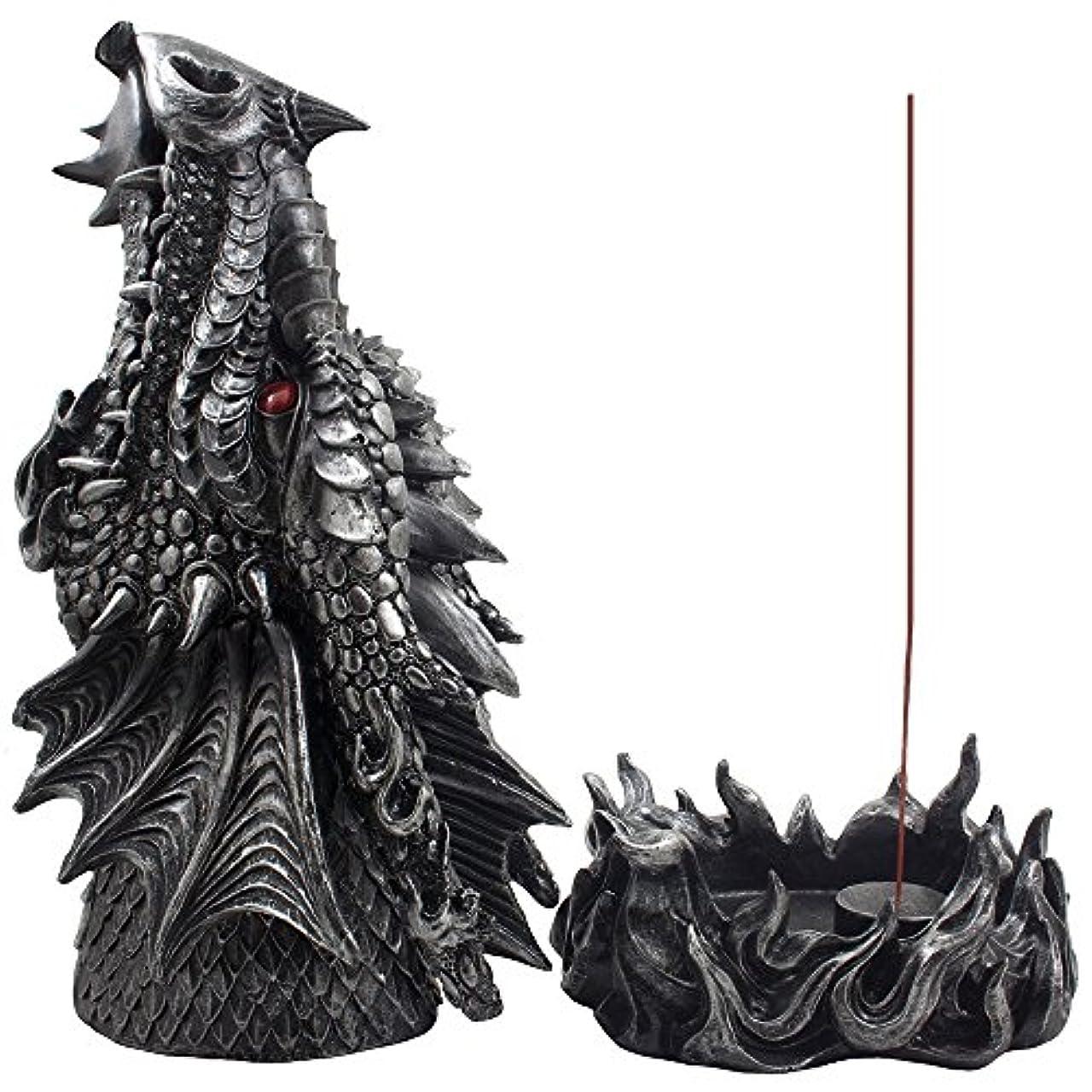 スワップ一人で警察Mythical Fire Breathing Dragon Incense Holder & Burner Combo Statue for Sticks or Cones with Decorative Display...