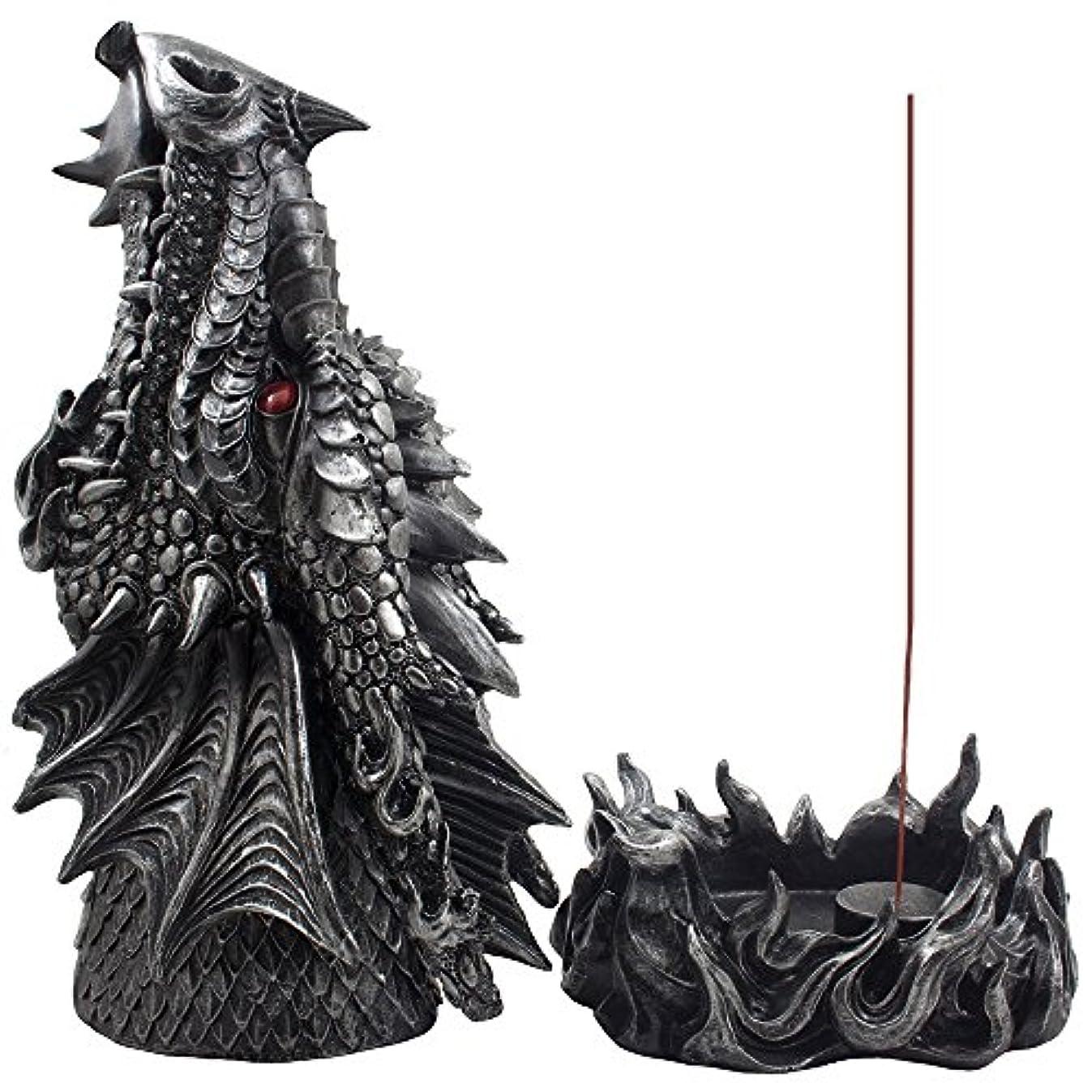 キリンプーノエンドテーブルMythical Fire Breathing Dragon Incense Holder & Burner Combo Statue for Sticks or Cones with Decorative Display...