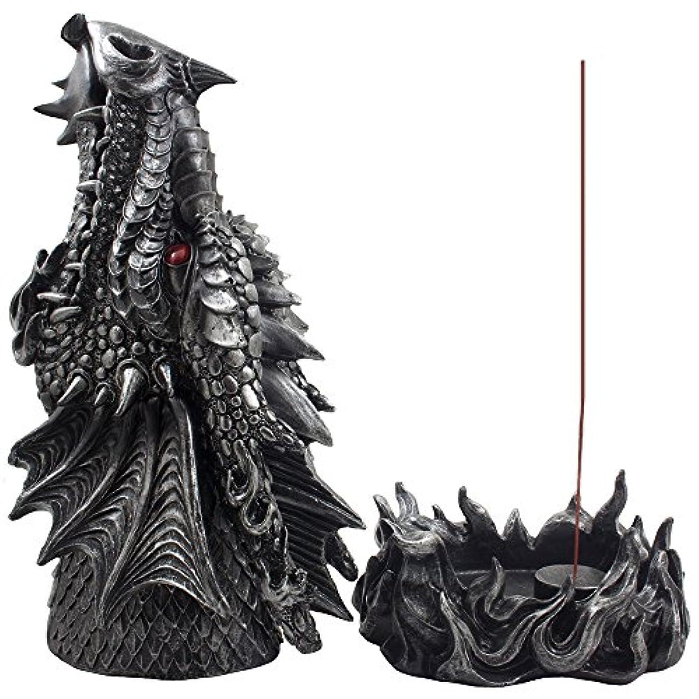 遊具ベールメンタリティMythical Fire Breathing Dragon Incense Holder & Burner Combo Statue for Sticks or Cones with Decorative Display...