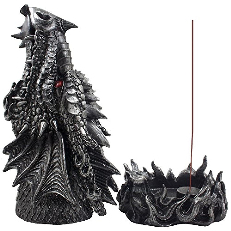 ダウンタウン契約した情熱Mythical Fire Breathing Dragon Incense Holder & Burner Combo Statue for Sticks or Cones with Decorative Display...