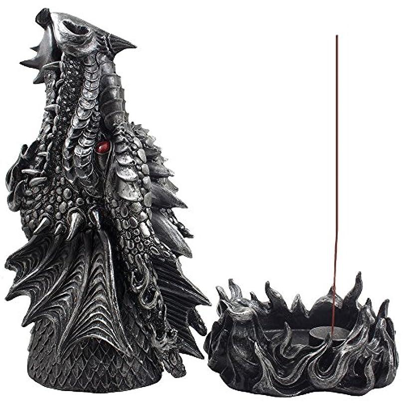 リネン早熟会員Mythical Fire Breathing Dragon Incense Holder & Burner Combo Statue for Sticks or Cones with Decorative Display...