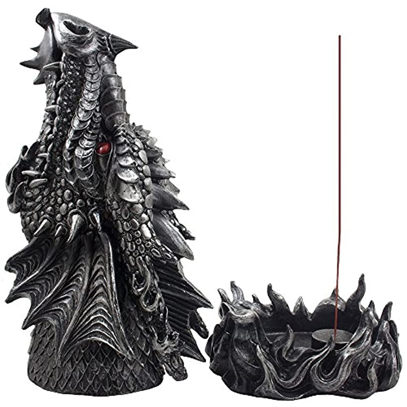 ホバートドル胆嚢Mythical Fire Breathing Dragon Incense Holder & Burner Combo Statue for Sticks or Cones with Decorative Display...