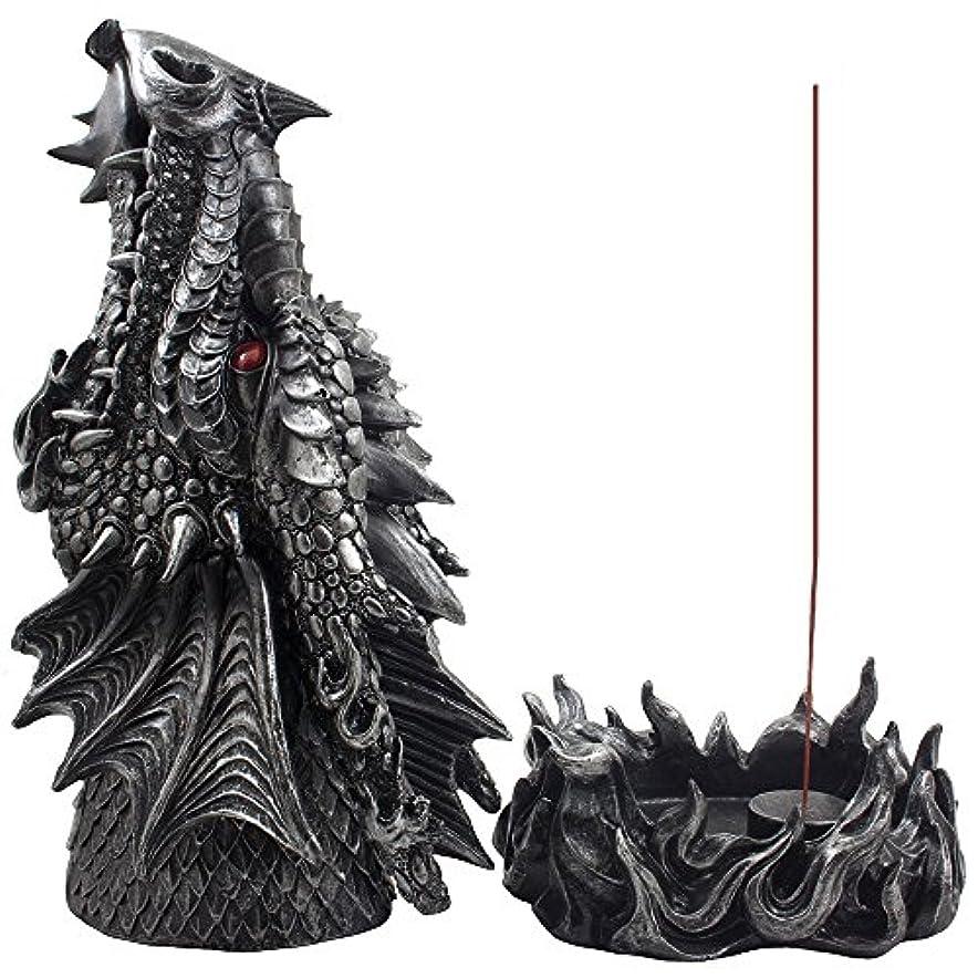 トイレ本を読むスティックMythical Fire Breathing Dragon Incense Holder & Burner Combo Statue for Sticks or Cones with Decorative Display...