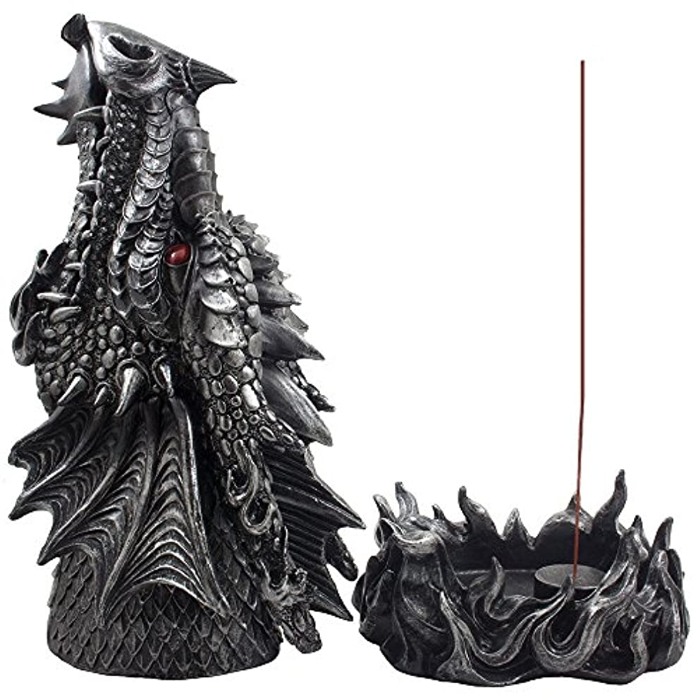 優しさに同意するメンタリティMythical Fire Breathing Dragon Incense Holder & Burner Combo Statue for Sticks or Cones with Decorative Display...