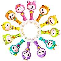 EDTara ベビーラトル キッズシェイカー サンドハンマー おもちゃ ダイナミックリズムスティック 楽器玩具 幼児 幼児 幼児 男の子 女の子 ランダムスタイル