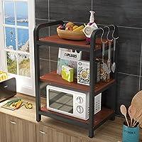 WENZHE キッチン 収納 りキッチンラック 収納棚 ラックワゴン 電子レンジ 調味料 料理 整理する 多機能、 木製、 3フロア 10色、 60×40×95cm (色 : I)