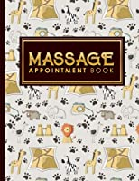 Massage Appointment Book: 2 Columns Appointment List, Appointment Scheduling Book, Easy Appointment Book, Cute Safari Wild Animals Cover