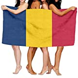 ビーチタオルの国旗チャド80cm X 130cmソフト軽量吸水性のバス水泳プールヨガピラティスピクニックブランケットタオル